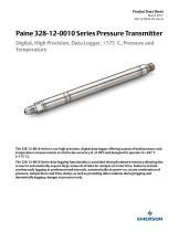 328-12-0010 Series Digital, High Precision, Data Logger Pressure and Temperature Transmitter - 1
