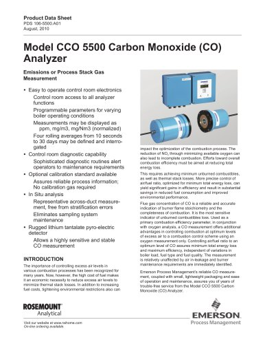 CCO 5500 Carbon Monoxide (CO) Analyzer
