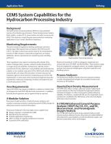 CEMS System Capabilities for the Hydrocarbon Processing Industry - 1