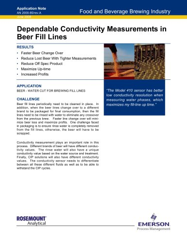 Conductivity Measurements in Brewing