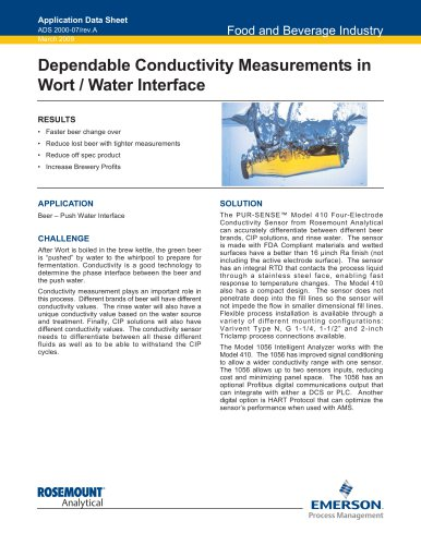 Conductivity Measurements in Wort/Water Interface