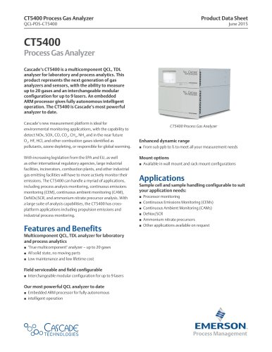CT5400  Process Gas Analyzer