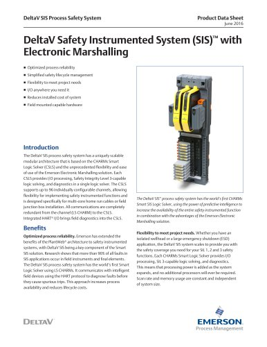 DeltaV SIS with Electronic Marshalling