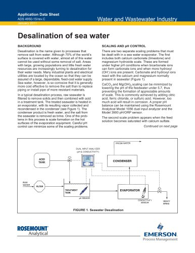 Desalination of Seawater