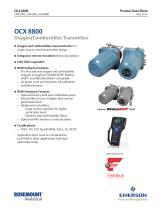 HART standard or OCX 8800 Oxygen/Combustibles Transmitter - 1