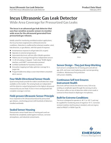 Incus Ultrasonic Gas Leak Detector