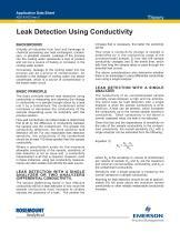Leak Detection Using Conductivity - 1