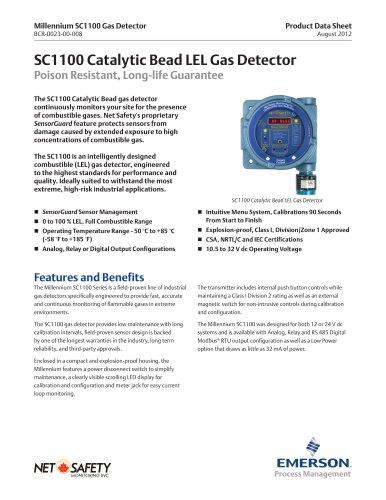 Millennium Catalytic Bead Combustible Gas Detector
