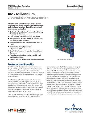 Millennium RM2 - 2-Channel Rack Mount Controller