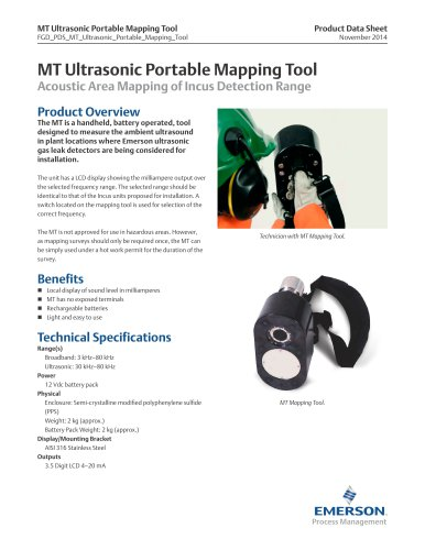 MT Ultrasonic Portable Mapping Tool