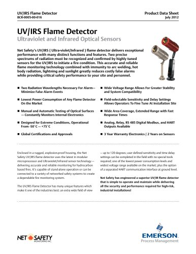 Net Safety UV/IR Flame Detector