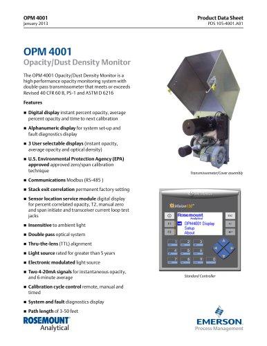 OPM 4001 Opacity/Dust Density Monitor