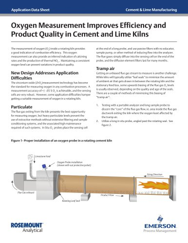 Oxygen Measurement Improves Efficiency and Product Quality in Cement and Lime Kilns