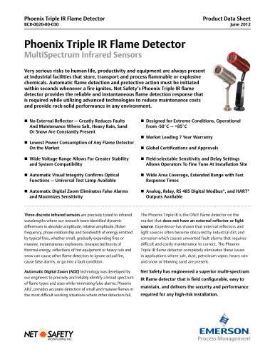 Phoenix Triple IR Flame Detector