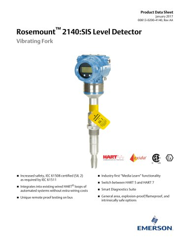 Rosemount™ 2140:SIS Level Detector