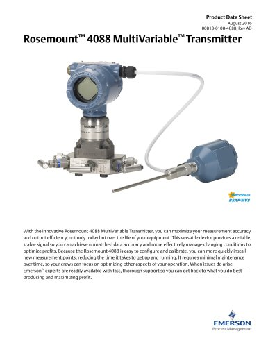 Rosemount 4088 MultiVariable™ Transmitter