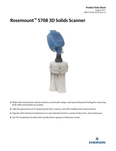 Rosemount 5708 Series 3D Solids Scanner
