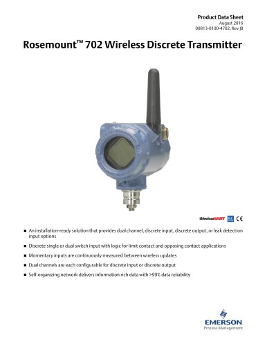 Rosemount™ 702 Wireless Discrete Transmitter