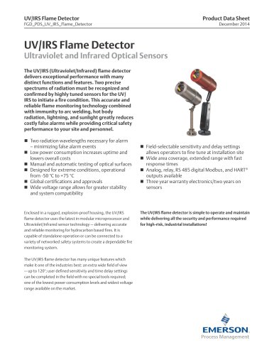 UV/IRS Flame Detector