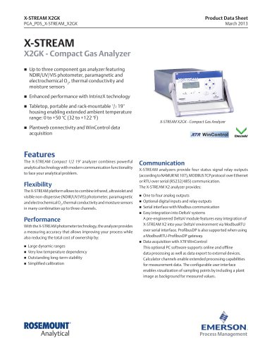 X-STREAM X2GK - Compact Gas Analyzer