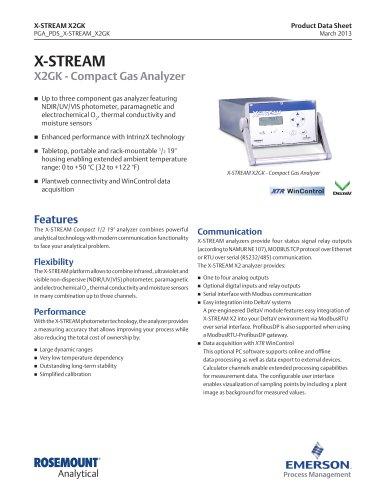 X-STREAM X2GK - Compact Gas Analyzer