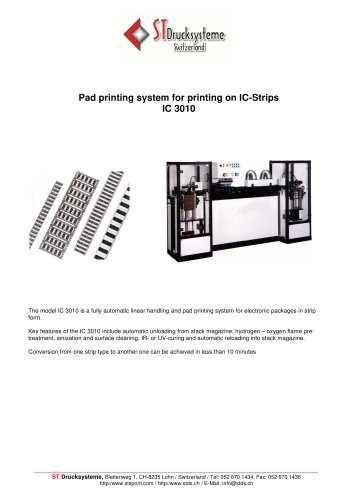 IC-3010: Pad printing system for IC-strips