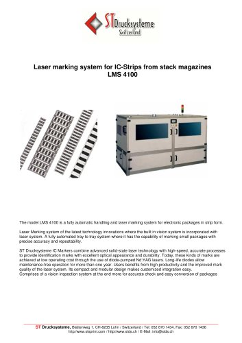LMS-4100 Laser marking system for IC-strips