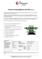 Screen Printing Machine SP-400 Vacuum