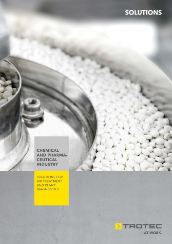 Solutions for air treatment and plant diagnostics in the chemical and pharmaceutical industry