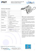 IP02T - Indoor Air Temperature Probe with Ethernet interface onboard - 1