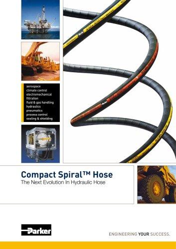 Tuyau flexible hydraulique haute pression Compact Spiral