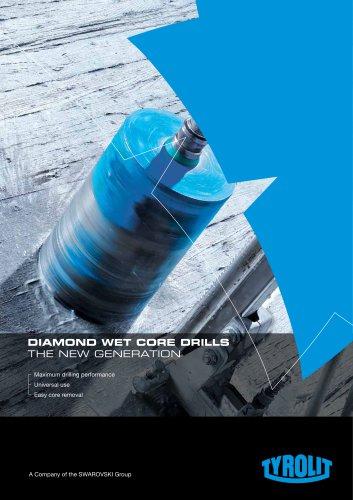 DIAMOND WET core drills