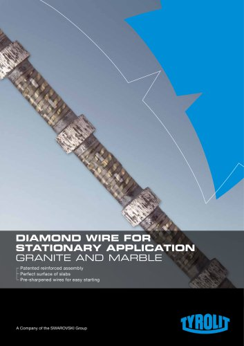 DIAMOND WIRE FOR STATIONARY APPLICATION GRANITE AND MARBLE