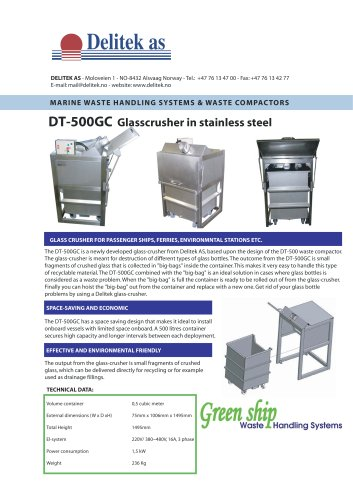 Glass crusher compactor