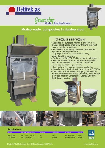 Green Ship waste compactors flyer 1