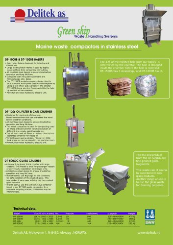Green Ship waste compactors flyer 2
