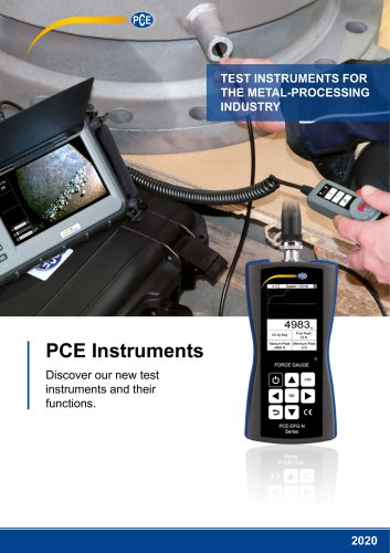 TEST INSTRUMENTS FOR THE METAL-PROCESSING INDUSTRY