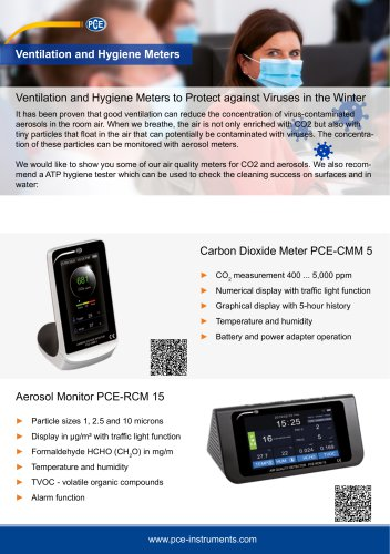 Ventilation and Hygiene Meters to Protect against Viruses in the Winter