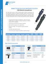 Direct Plug-In 120 VAC Slip (Ratchet) Clutch Electric Screwdrivers