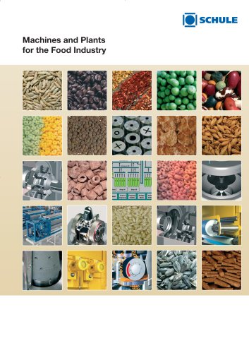 Machines and Plants for the Food Industry (Cereals, Pulses, Tea, Protein Shifting, Spices, Oilseeds)