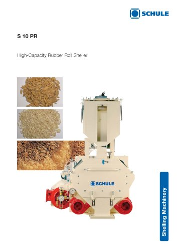 Shelling Machines: High-Capacity Rubber Roll Sheller S 10 PR