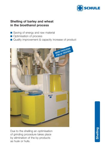 Shelling of barley and wheat in the bioethanol process