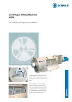 Sorting Machines: Centrifugal Sifting Machine WSM - 1