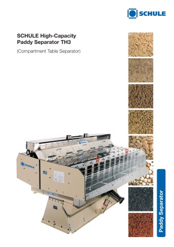 Sorting Machines - High-Capacity Paddy Separator TH3 (Compartment Table Separator)
