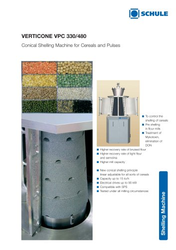 VERTICONE Conical Shelling Machine for Cereals and Pulses