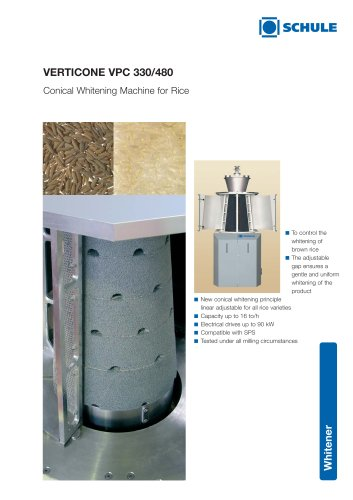 VERTICONE Conical Whitening Machine for Rice