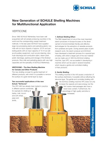 VERTICONE - Shelling Machines for Multifunctional Application