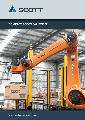 Compact robot palletiser