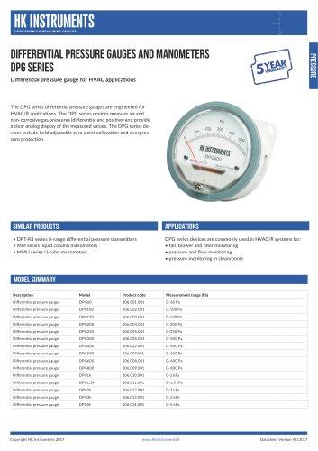 DPG Differential pressure gauge
