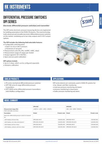 DPI Differential pressure indicator